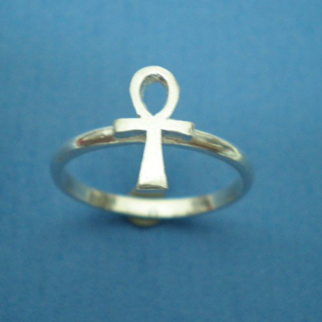 Egyptian Ankh Ring - Sterling Silver
