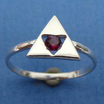 Zelda Triforce Engagement Ring - Triangles Charm Ring - Geek Nerd - Gamer - $35.00