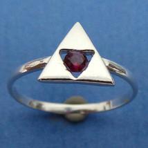 Zelda Triforce Engagement Ring - Triangles Charm Ring - Geek Nerd - Gamer - £27.14 GBP