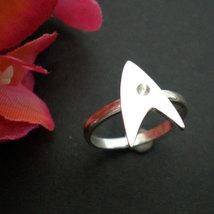 Sterling Silver Trek Engagement Ring - Geek Nerd - Star Trek Fans image 3