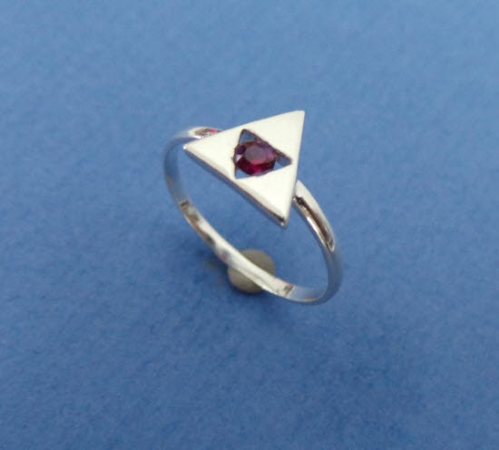 Zelda Triforce Engagement Ring - Triangles Charm Ring - Geek Nerd - Gamer