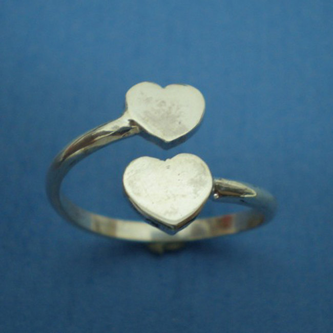 Personalized Heart Ring - Engraved Heart Ring - Custom Gift - Any Letters, Any N