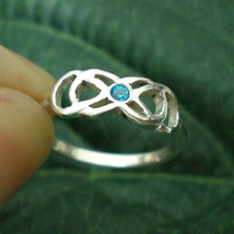 Double Infinity Ring - Birthstone, Anniversary Gift, Best Friends Foreve... - $32.00