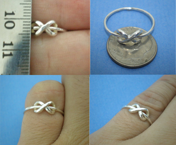 Silver Dainty Infinity Ring - Etsy Jewelry image 3