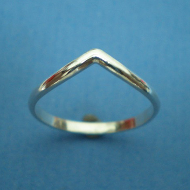 Set of 3 Chevron Rings - Sterling Silver image 2