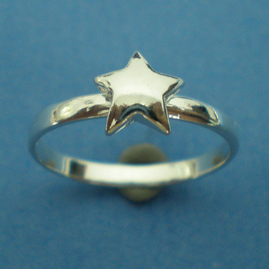 Silver Star Ring - US 3 - 13