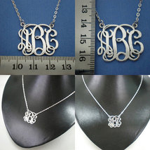Personalized Monogram Necklace Choker - Silver Sterling - Bridesmaids Wedding image 3