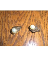 Marvella Faux Pearl and Marcasite Clip Earrings - $24.97
