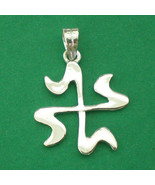 Islamic Swastika Silver Charm Pendant Necklace - $30.00