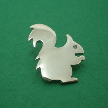 Adorable Pretty Little Cute Squirrel Silver Pendant Necklace - $22.00