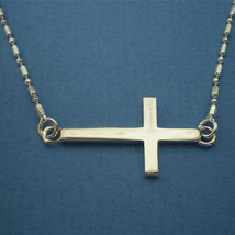 Celebrity Inspired Sideways Cross Necklace - $32.00