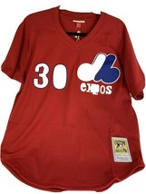 Mitchell & Ness Montreal Expos Tim Raines #30 Mesh Jersey Size Large Shirt - $76.51