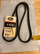 "Gates 177452 A60 V BELT 1/2"" X 62"" MADE IN USA - $10.39"
