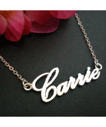 Custom Carrie Style Personalized Name Necklace - Sterling Silver 925 - $33.00