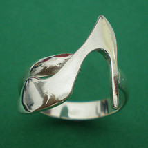 Fashion High Heel Shoe Silver Charm Ring - $32.00