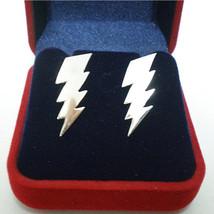 Lightning Bolt Thunder Storm  Zap 925 Sterling Silver Earring Earing Stud - $25.00