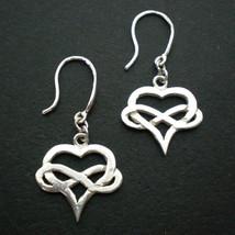 Silver Heart Infinity Earring Hoop - $38.00