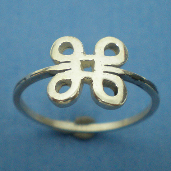Mac Command Symbol Silver Ring - Geekery Jewelry - US 3 - 13