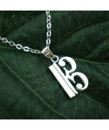 Alto Clef C  Silver Necklace Pendant - Music Note Jewelry - 11mm X 25mm - $32.00