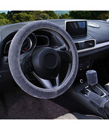 3Pcs Gray Winter Steering Wheel Cover Handbrake Car Automatic Cover/Warm... - $12.18