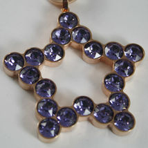 ROSE BRONZE REBECCA NECKLACE BIG STAR WITH PURPLE CRYSTAL CT 20.00 MADE IN ITALY image 5