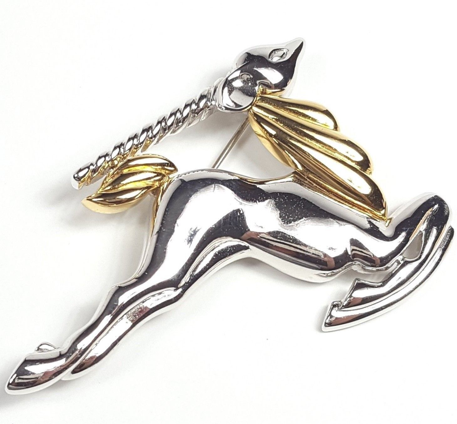crystal brooch deer