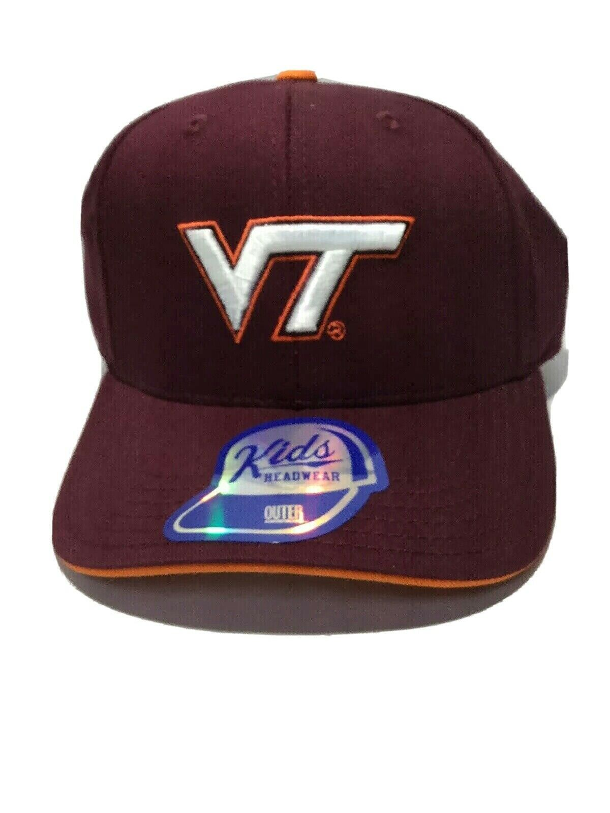 ZHATS NCAA Kids Youth M15 Fitted Hat Virginia Tech Hokies Maroon New - $13.09
