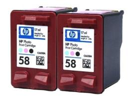 2 pack HP 58 Photo Genuine C6658AN Ink cartridge OEM for OfficeJet PSC Printer - $17.50