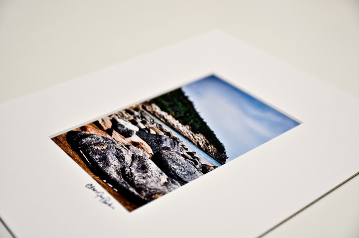 'Sand Beach Color' Fine Art Print - 4x6 print matted to 8x10