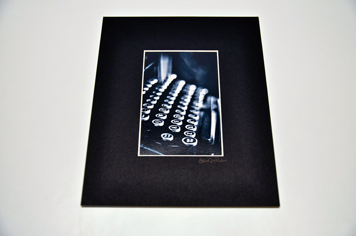 'Type Writer' Fine Art Print - 4x6 print matted to 8x10