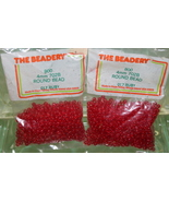 4mm ROUND BEADS THE BEADERY PLASTIC RUBY 2 PACKAGES 1,600 COUNT - $3.99