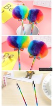 Rainbow Plush Gel Pen School Supplies Stationery Gel Ink Pen Gift Kids P... - $8.99