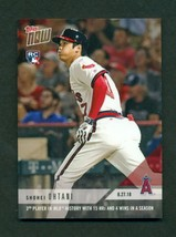 2018 Topps Now #650 Shohei Ohtani 3rd Player MLB History With 15 HRs & 4... - $8.99