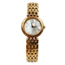 Seiko Dress MOP Sticks Dial Gold Tone Steel Quartz Ladies Watch SXNP12