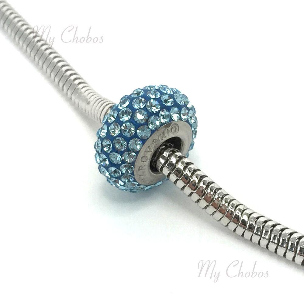 Swarovski European Bracelet Charm Stainless BeCharmed Silm Pave Xilion Chaton image 5
