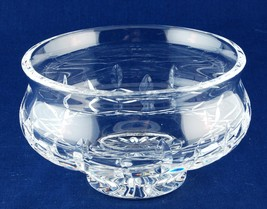Heavy Crystal Glass Bowl Candy Dish Footed  - $8.50