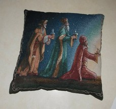 Christmas Wise Men Print Decorative Pillow  17 x 17 - $39.95