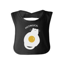 Meowgical Cat And Fried Egg Baby Black Bib - $9.99
