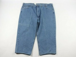 Vintage 90s Carhartt Mens 50x25 Leather Patch Spell Out Denim Jeans Pant... - $34.60
