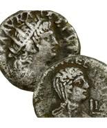 NERO Poppaea Tetradrachm Double Portrait Ancient Roman Empire Coin 65 AD... - $251.10