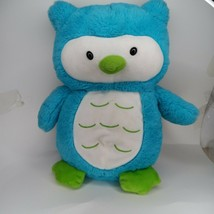 "Animal Adventure Blue Green Owl Plush 12"" Stuffed Soft Toy Lovey Sweet S... - $19.99"
