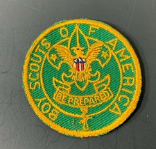 Vintage BSA Patch Be Prepared Green & Yellow Embroidered Boy Scouts America  - $9.75