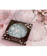 Cherry Blossom Frosted Glass Coasters by Kate Aspen Set of 4  - $12.50
