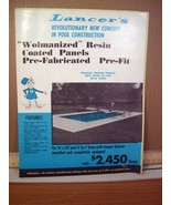 Advertisment Flyer: Lancer's Revolutionary New Concept in Pool Construct... - $7.19