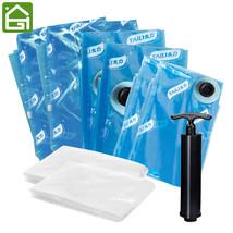 11PCS Blue Vacuum Bags For Clothes Quilt Organizer Foldable Vacuum Space... - $47.56 CAD