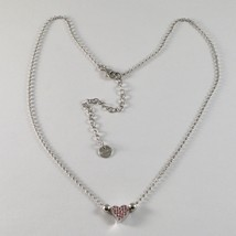 925 Sterling Silver Necklace Jack&co with Heart Cz Cubic Zirconia Pink J... - $85.80