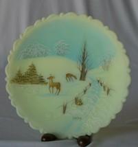 Fenton 1979 Winter Scene Hand Painted Plate - $19.80