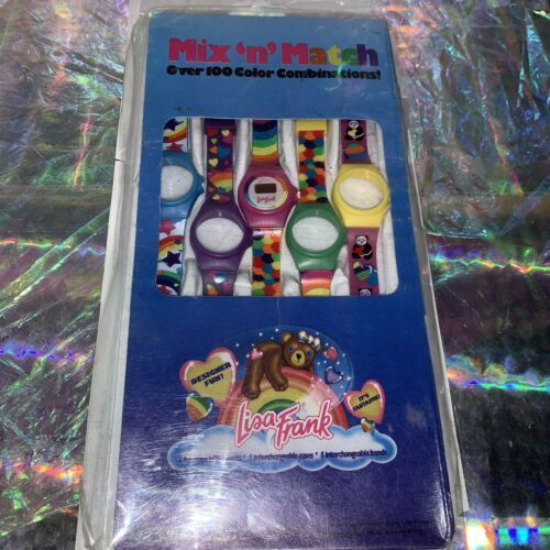 Rare Gem Vintage 80s 90s Lisa Frank Mix & Match Watch 5 Swappable Wristbands