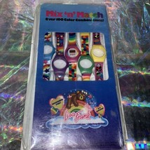 Rare Gem Vintage 80s 90s Lisa Frank Mix & Match Watch 5 Swappable Wristbands image 1