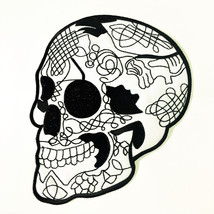 Skull Tattoo Designs Motorcycle Large Biker Back Patch Embroidered Sew I... - $16.84